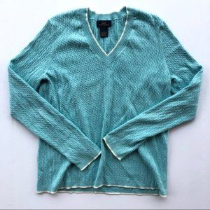 Brooks Brothers Light Blue Long Sleeve Sweater